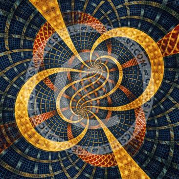 Golden braids on blue grid - shesha_rt