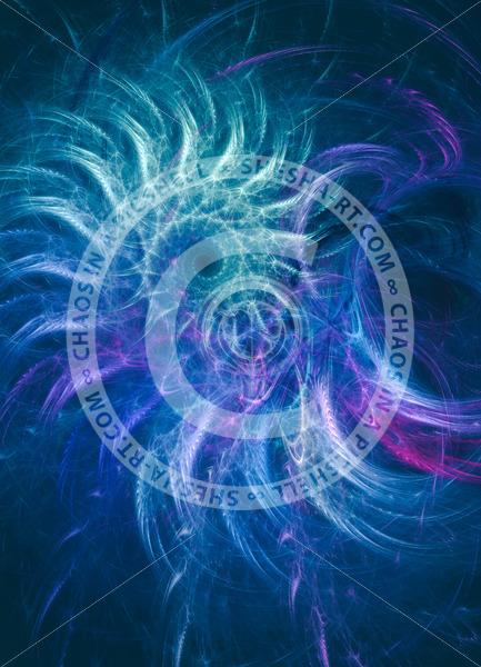 Purple-blue spiral vortex - shesha_rt