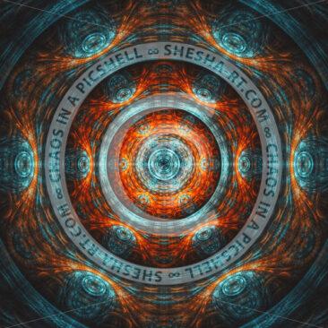 Symmetrical mandala background - shesha_rt