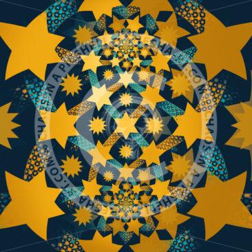 Yellow starts on blue background - shesha_rt